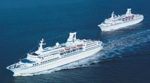 Die Schwesterschiffe MS Astor und MS Astoria, Foto: Transocean Tours